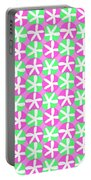 Flowers And Spots  Portable Battery Charger by Louisa Knight