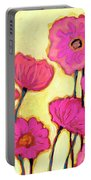 Flowers For Coralyn Portable Battery Charger by Jennifer Lommers
