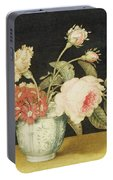 Flowers In A Delft Jar  Portable Battery Charger
