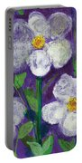 Flowers In Moonlight Portable Battery Charger