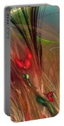 Flowers In The Grass Portable Battery Charger