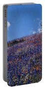 Flowers On A Hill Portable Battery Charger