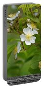 Flowers On The Fence Portable Battery Charger