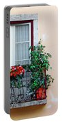 Flowery Balcony Portable Battery Charger by Carlos Caetano