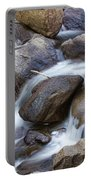Flowing Water Down The Colorado St Vrain River Portable Battery Charger