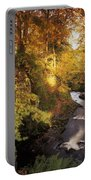 Flowing Water Through A Forest Portable Battery Charger