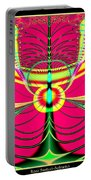 Fluorescent Butterfly Fractal 68 Portable Battery Charger