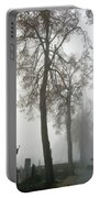 Foggy Cemetery Portable Battery Charger