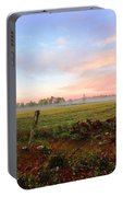 Foggy Morning Field Portable Battery Charger