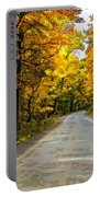 Follow The Yellow Leafed Road Painted Portable Battery Charger
