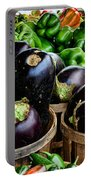 Food - Farm Fresh - Eggplant And Peppers Portable Battery Charger