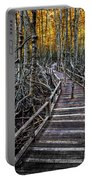 Footpath In Mangrove Forest Portable Battery Charger by Adrian Evans