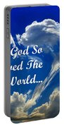 For God So Loved The World Portable Battery Charger