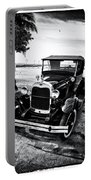 Ford Model T Film Noir Portable Battery Charger by Bill Cannon