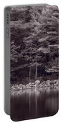 Forest At Jordan Pond Acadia Bw Portable Battery Charger