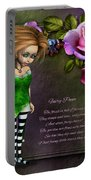 Forest Fairy Jn The Rose Garden Portable Battery Charger