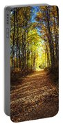 Forest Path In Autumn Portable Battery Charger