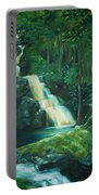 Forest Waterfall Portable Battery Charger