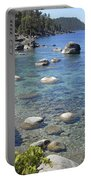 Forested Shores Of Lake Tahoe Portable Battery Charger