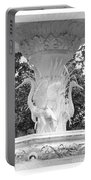 Forsyth Fountain - Black And White 4 Portable Battery Charger