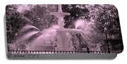 Forsyth Park Fountain In Pink Portable Battery Charger