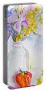 Forsythia And Ghost Daisies Portable Battery Charger