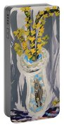 Forsythia In Old Clear Vase Mary Carol Portable Battery Charger