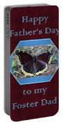 Foster Dad Father's Day Card - Mourning Cloak Butterfly Portable Battery Charger