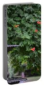 Fountain In The Garden Portable Battery Charger