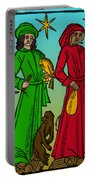 Four Temperaments, Medieval Woodcut Portable Battery Charger
