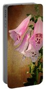 Fox Glove Grunge Portable Battery Charger