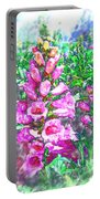 Foxglove Floral Portable Battery Charger