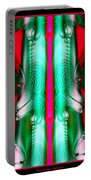 Fractal 29 Christmas Ribbons Portable Battery Charger
