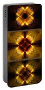 Fractal Triptych Portable Battery Charger
