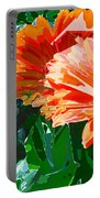 Fractured Gerber Daisies Portable Battery Charger