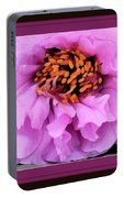 Framed In Purple - Abstract Floral Portable Battery Charger