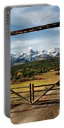 Framed Sneffels Mountain Range Colorado Portable Battery Charger