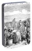 France: Grape Harvest, 1854 Portable Battery Charger