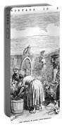 France: Grape Harvest, 1854 Portable Battery Charger