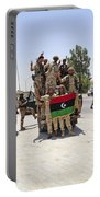 Free Libyan Army Troops Pose Portable Battery Charger