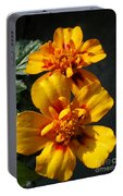 French Marigold Named Starfire Portable Battery Charger