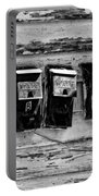 Freret Street Mailboxes - Black And White -nola Portable Battery Charger