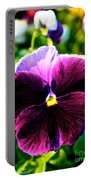Fresh Face Pansy Portable Battery Charger