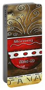 Fresh Java Original Painting Portable Battery Charger by Megan Duncanson