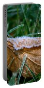 Fringed In Frost Portable Battery Charger