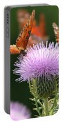 Fritillary Wings And Thistles Portable Battery Charger