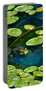 Frog And Lily Pads Portable Battery Charger