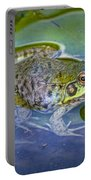 Frog Resting On A Lily Pad Portable Battery Charger