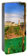 From Usa To Can Over The Rainbow Bridge Portable Battery Charger