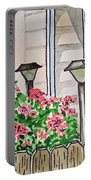 Front Yard Lights Sketchbook Project Down My Street Portable Battery Charger by Irina Sztukowski